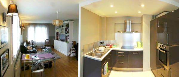 Rénovation de l'espace cuisine-séjour – ANNECY (74)