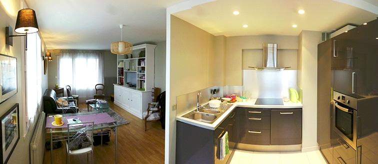 Rénovation de l'espace cuisine-séjour à Annecy (74)