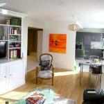 espace cuisine-séjour rénové et aménagé