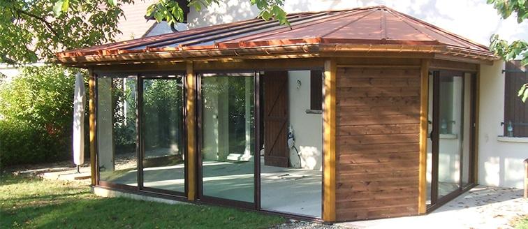 Construction d'une véranda en bois – BESANÇON (35)
