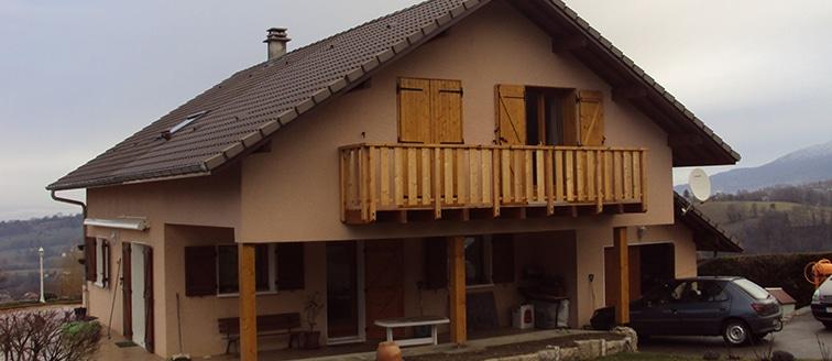 Extension de l'ossature bois </br> à Chambéry (73)