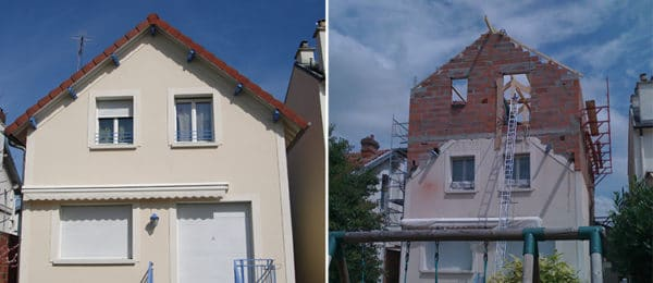 Surélévation d'une maison individuelle – ANTONY (92)
