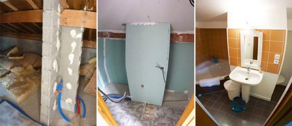 comment isoler un wc dans une salle de bain refaire une salle de bains moche sans se ruiner. Black Bedroom Furniture Sets. Home Design Ideas