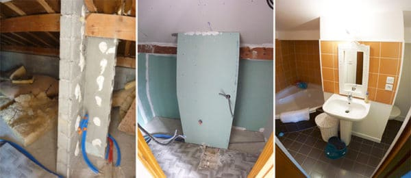 Création d'une salle de bains sous combles – Annecy (74)