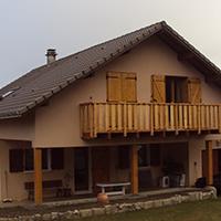 Extension de l'ossature bois d'une maison de montagne