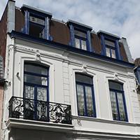 Ravalement de la façade d'une maison classée