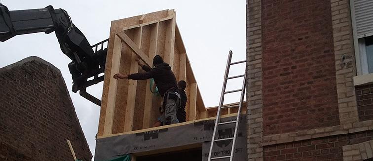 Construction d'une extension en bois au Havre (76)