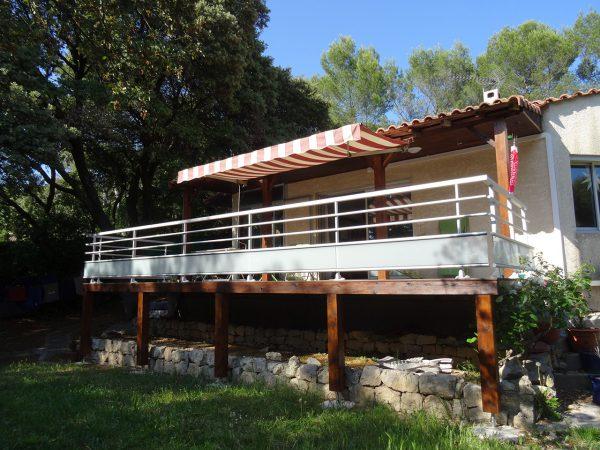 Rénovation et agrandissement d'une terrasse à Montpellier (34)