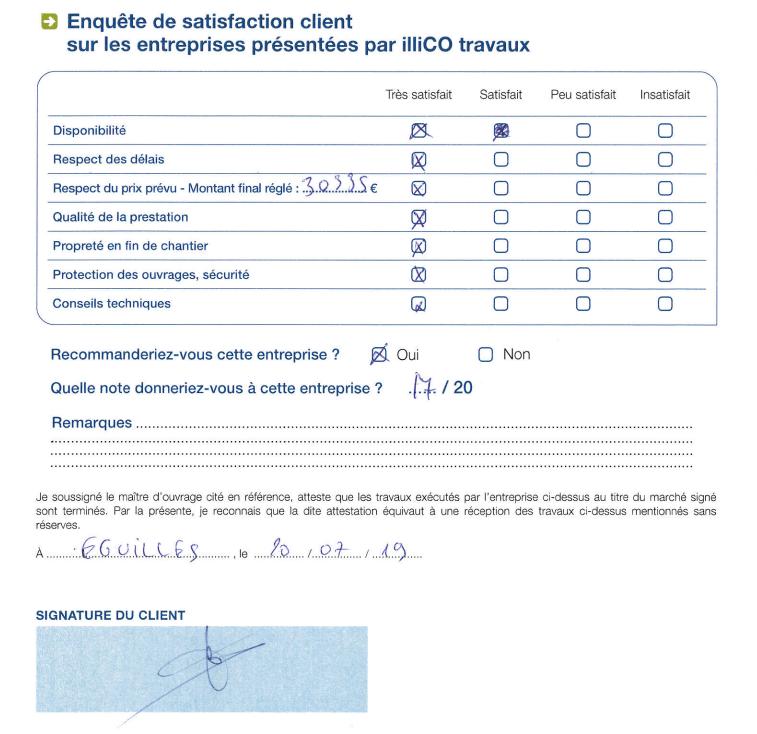 Enquete satisfaction agence illiCO travaux Aix en Provence