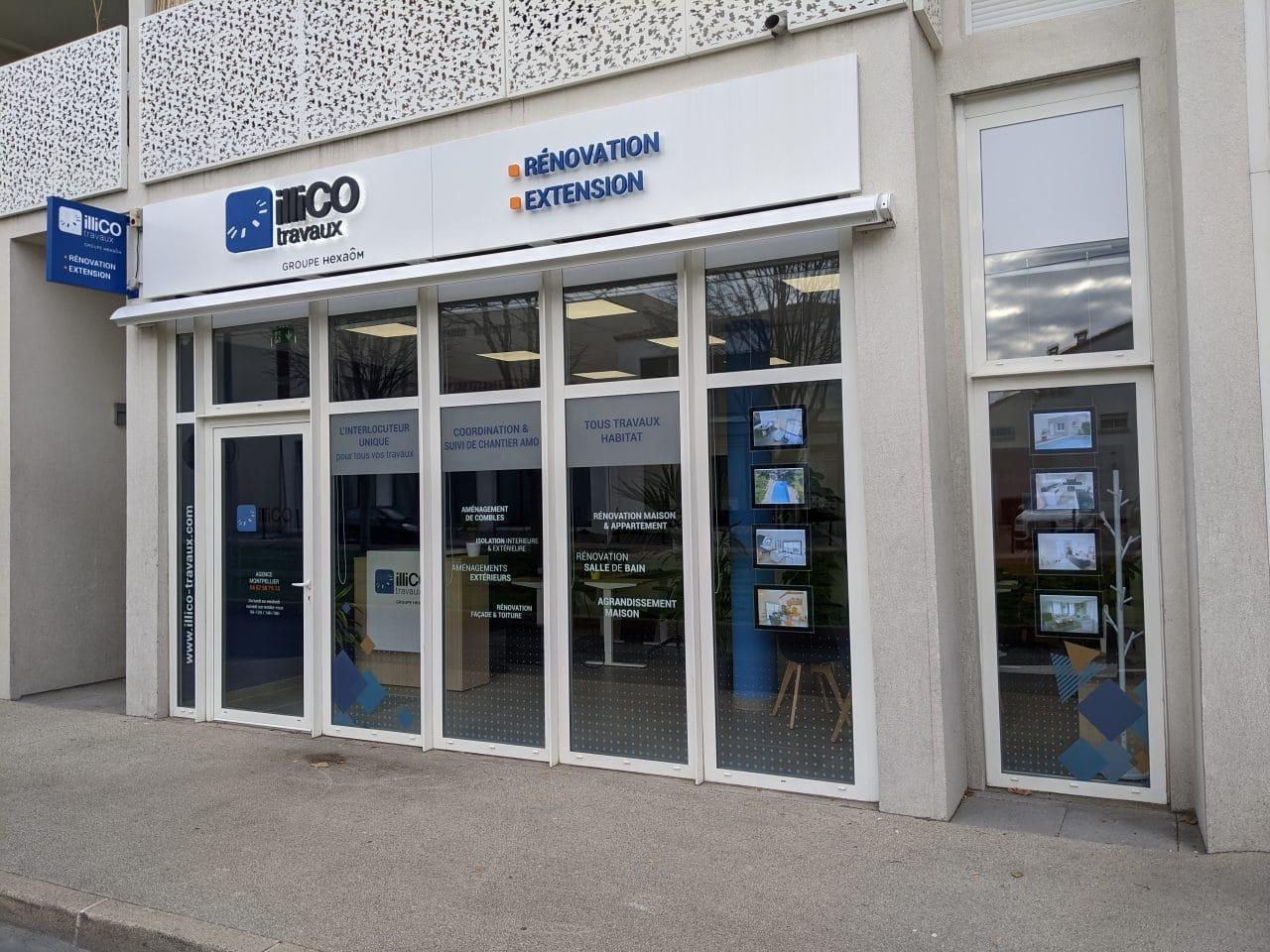 Agence illiCO travaux Montpellier Vue extérieure