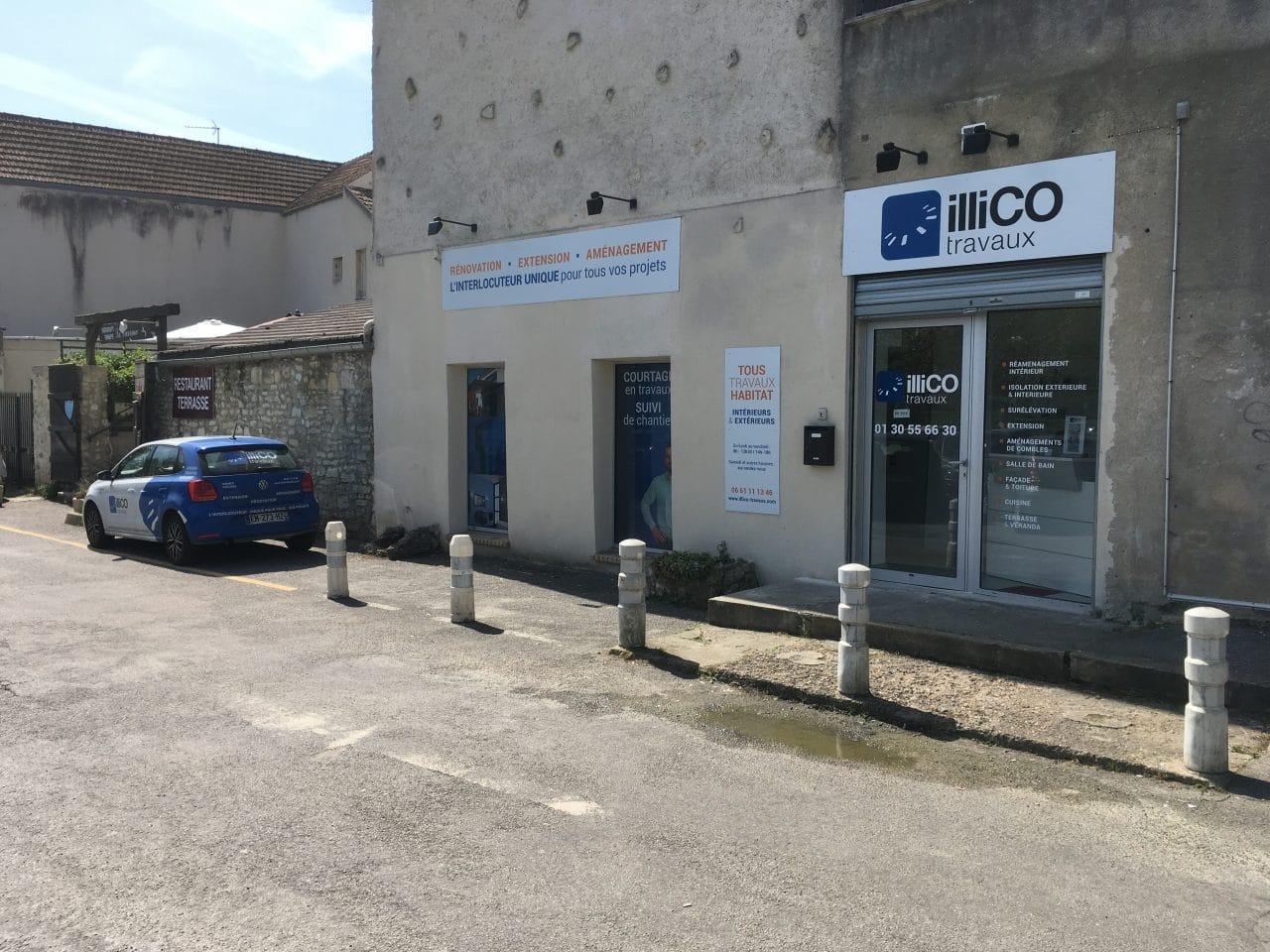 Agence Saint Quentin-en-Yvelines – Versailles : agence exterieur + voiture