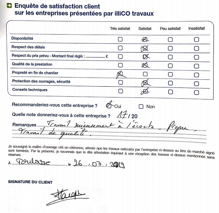 enquête satisfaction illiCO travaux Toulouse Nord Ouest