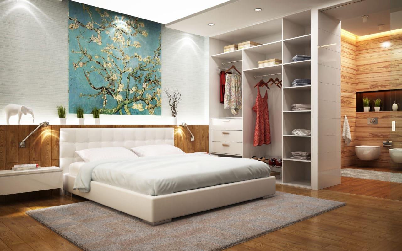 travaux de rénovation d'une chambre dans une maison