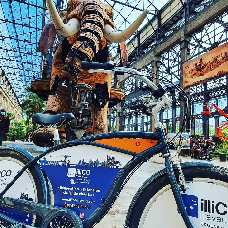 vélo de l'agence locale illiCO travaux Nantes Sud
