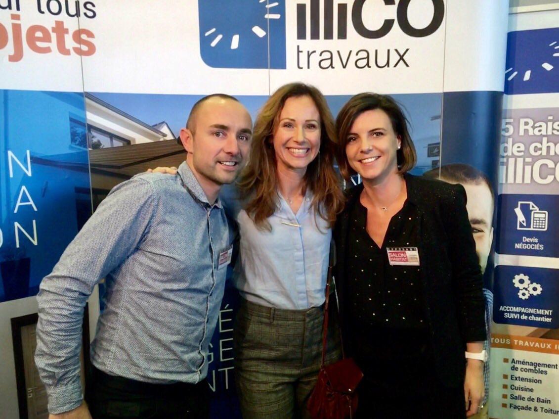 Karen BENIGUET et Sébastien LE ROUX de votre agence illiCO travaux Vannes en compagnie de Sophie Ferjani, Architecte et Décoratrice d'intérieur pour différentes émissions de télévision sur M6.