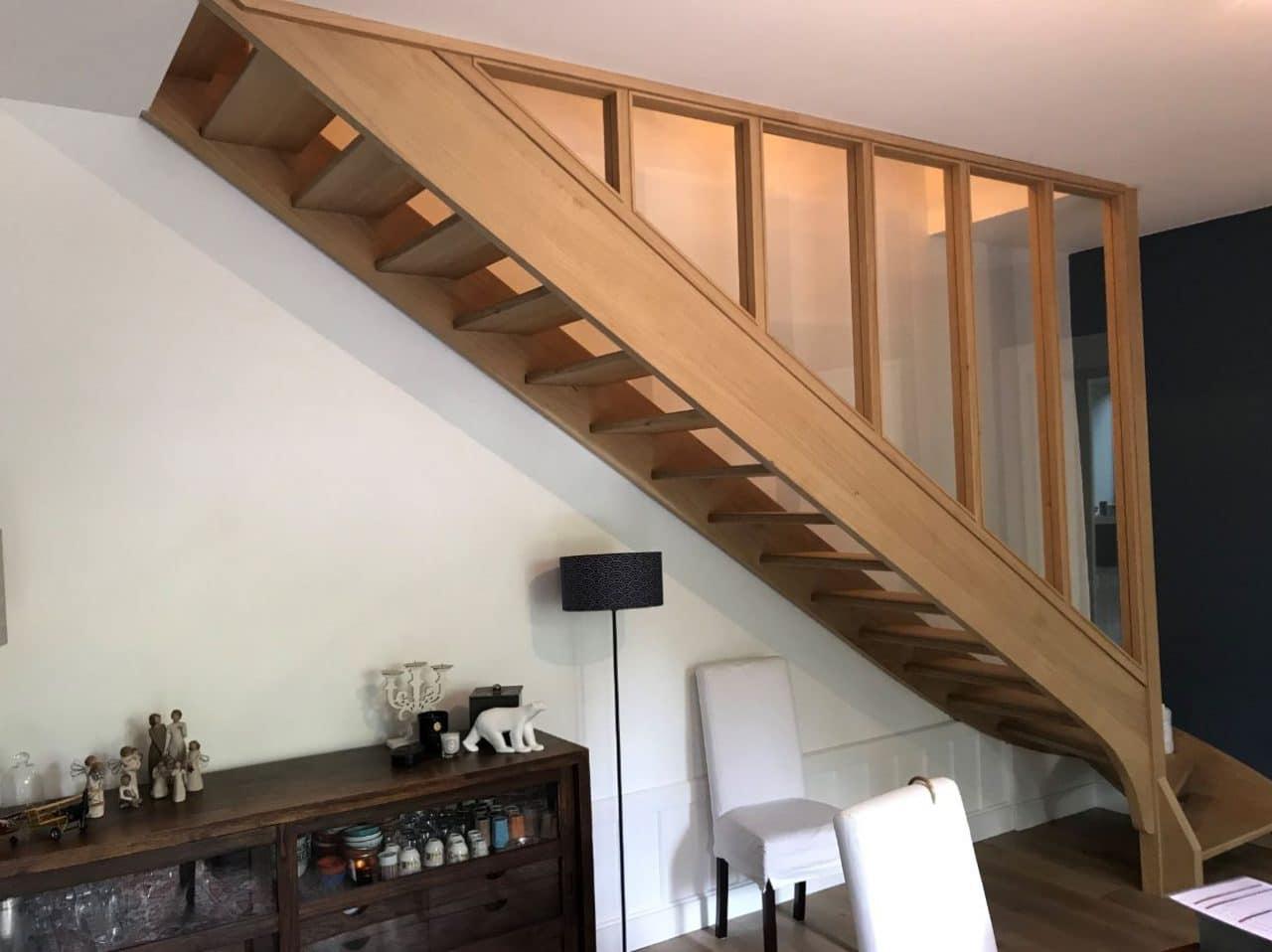 rénovation d'une maison à Fontaines-sur-Saône : escalier