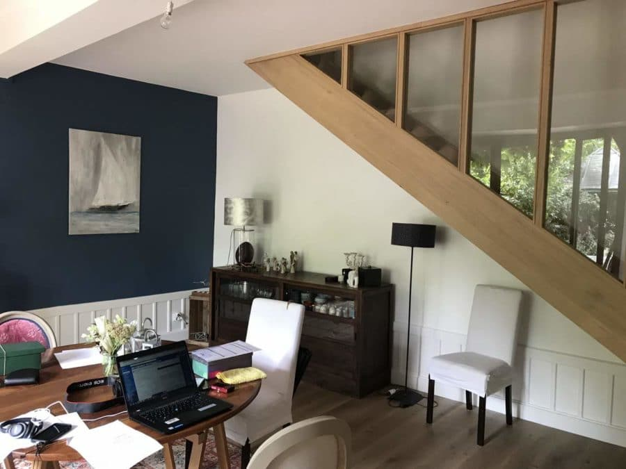Rénovation d'une maison à Fontaines-sur-Saône - salle à manger