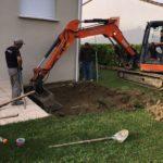 Réalisation d'un spa semi-enterré à Toulouse - pendant travaux