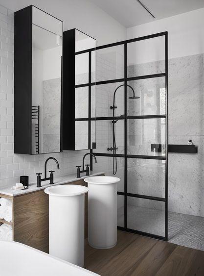 verrière intérieure salle de bain - paroi de douche