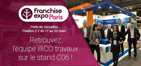 Franchise Expo Paris présence d'illiCO travaux