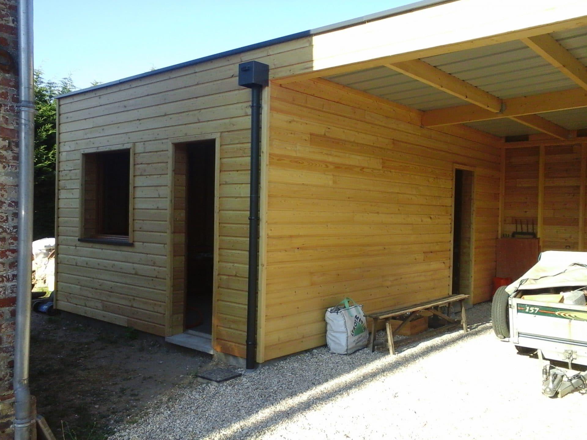 Constructeur Maison Ossature Bois 76 création d'un atelier en ossature bois à vaudreuil