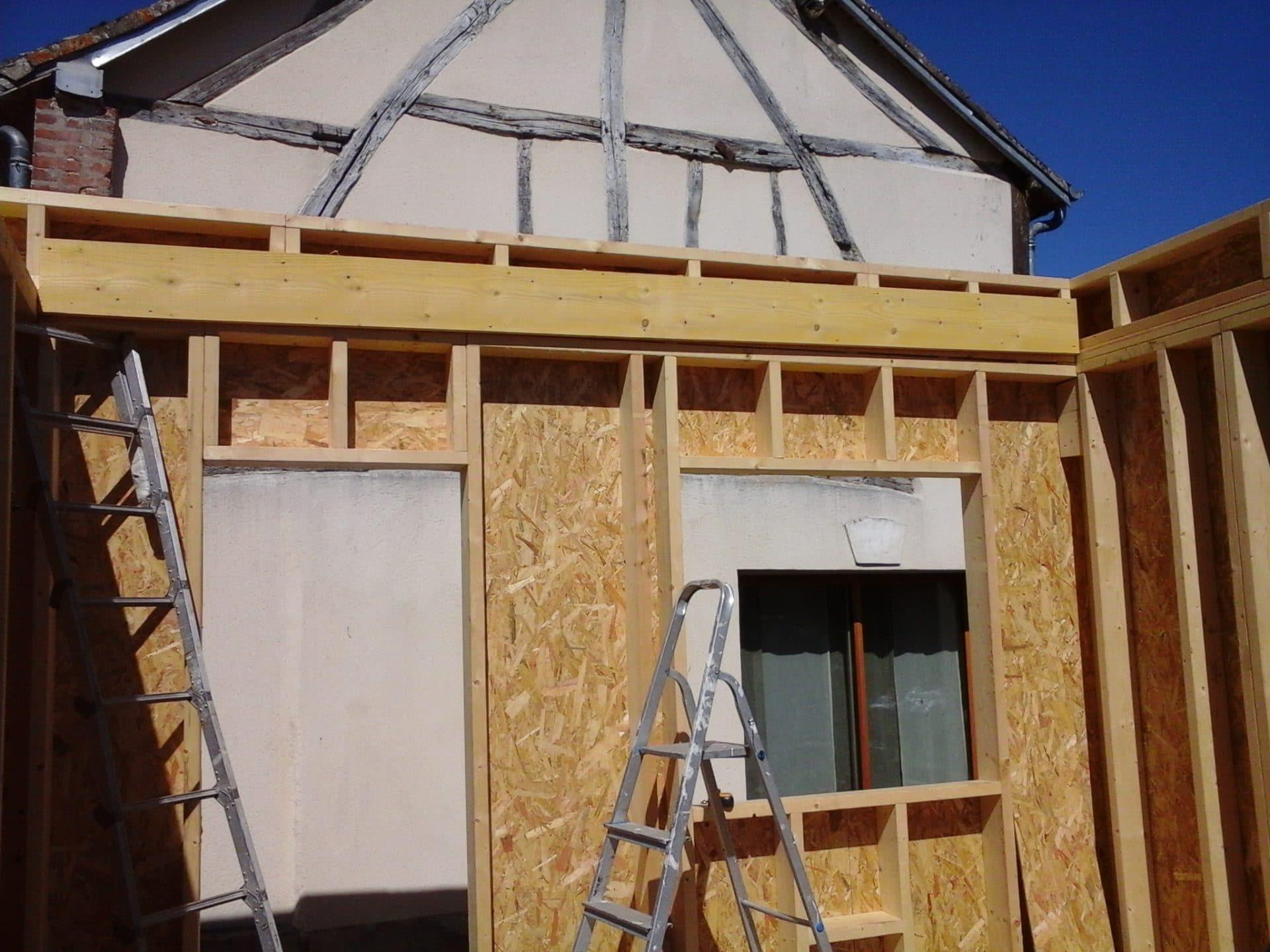 Création d'un atelier en ossature bois à Vaudreuil (27)