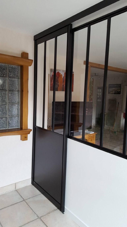Création d'une verrière intérieure à Echirolles (38)