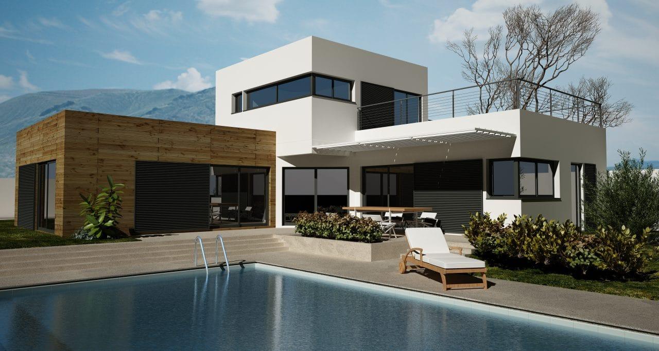agrandissement maison avec toit terrasse