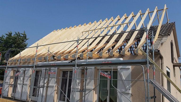 Focus sur le changement de pente d'une toiture