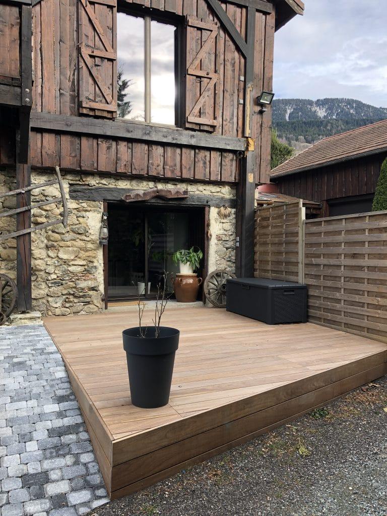 Rénovation d'une terrasse à Saint-Martin d'Uriage (38)