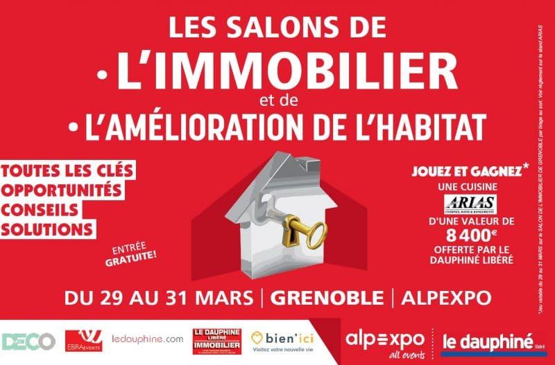 affiche du salon de l'Immobilier et de l'Aménagement de l'Habitat de Grenoble