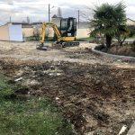 Réalisation d'un aménagement extérieur à Angoulême : stabilisation du terrain