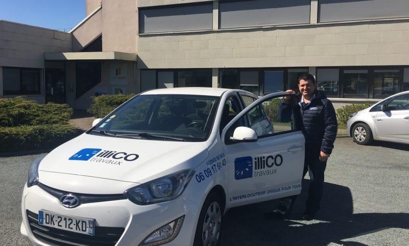 Nicolas Crulli responsable de l'agence locale illiCO travaux Nice