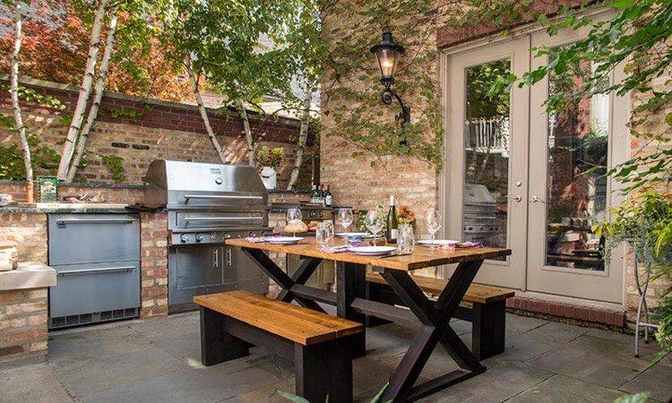 aménagement extérieur cuisine d'été