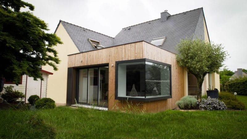 extension maison bois pour un salon