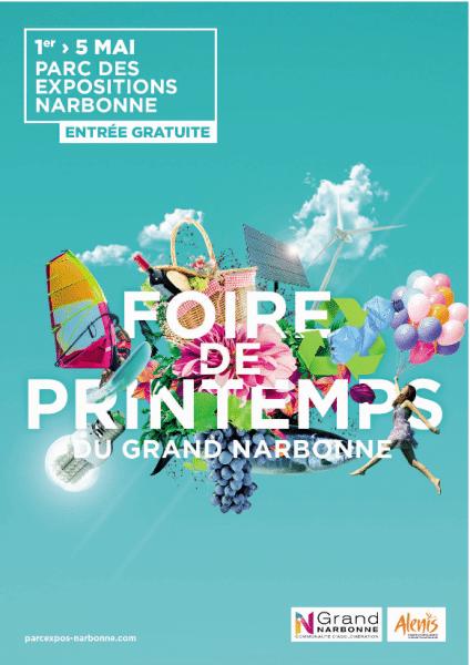 Affiche de la Foire de Printemps du Grand Narbonne
