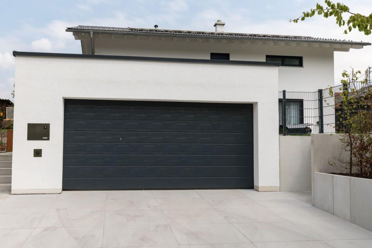 extension maison avec garage toit plat