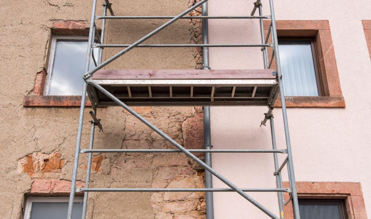 rénovation façade d'un immeuble