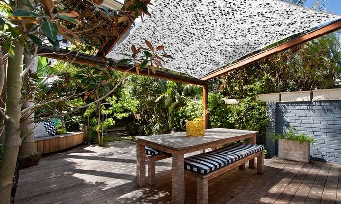 aménagement extérieur voile d'ombrage