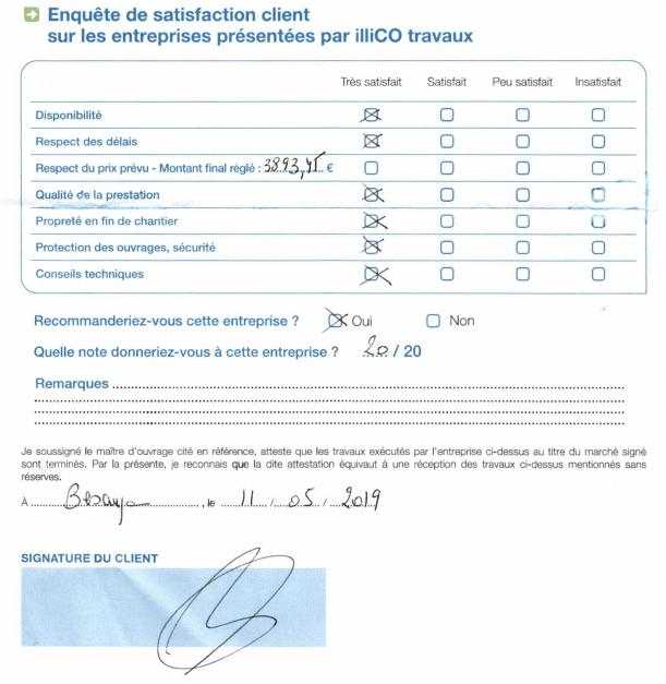 enquête satisfaction client illiCO travaux Besançon