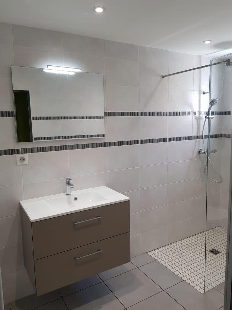 Rénovation d'une salle de bain à Gan (64)