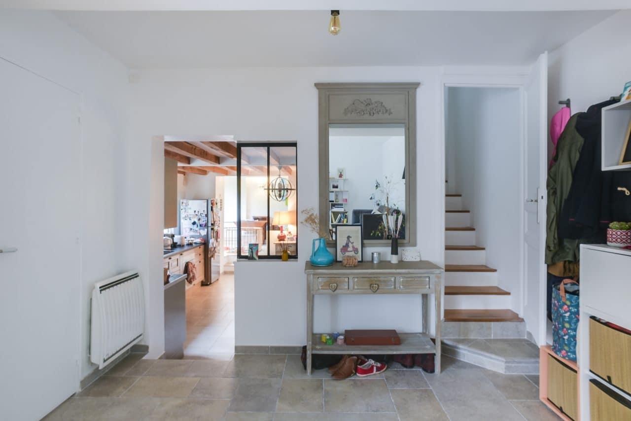 acces etage escalier chambre extension maison Colombes