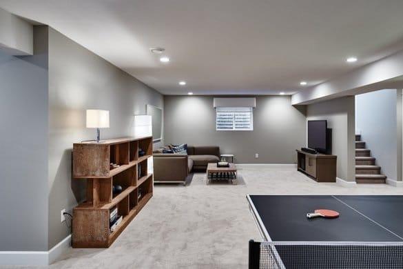 aménagement intérieur garage pièce de vie salon salle de jeux
