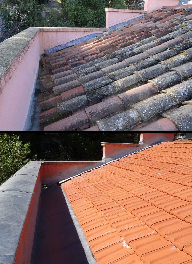 comparatif renovation toiture maison tuile couvertine zinc Montpellier