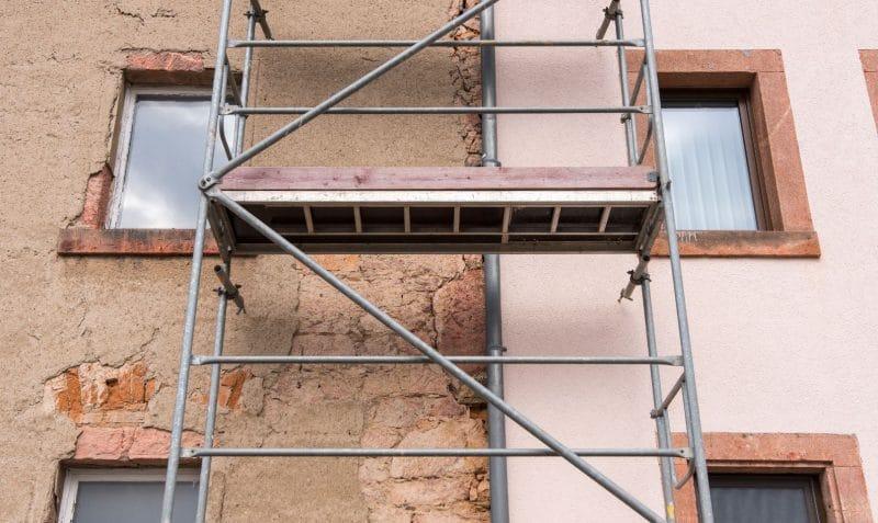 rénovation complète de façade d'une maison