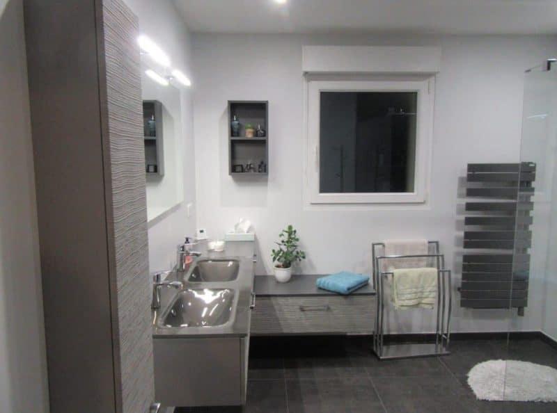 rénovation complète d'une salle de bain à Nancy