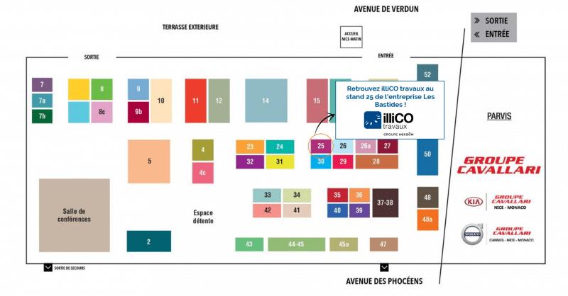 Plan du Salon Immobilier de Nice 2019