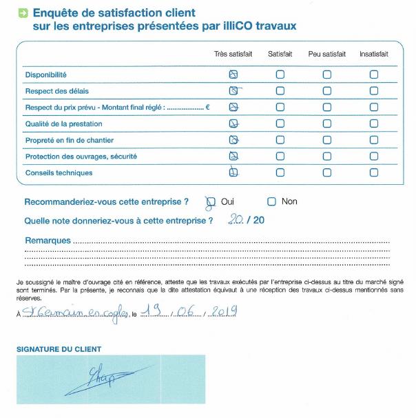 Témoignage satisfaction client illiCO travaux enquête