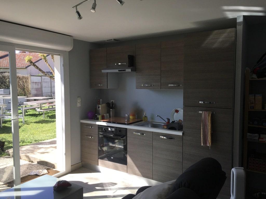 amenagement garage studio cuisine baie vitrée Saint-Loubès