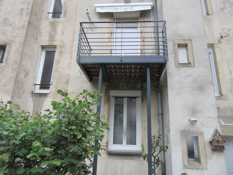 Rénovation de maison et création d'un balcon à Nancy (54)
